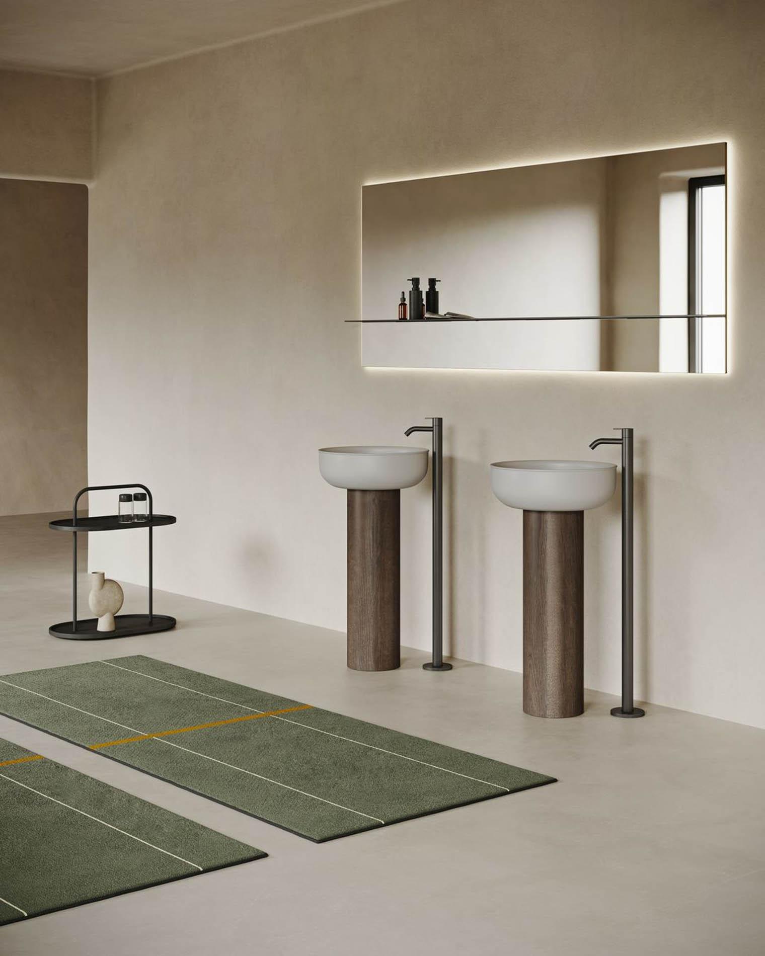 Lavabos en mármol minimalistas de Inbani en Barcelona